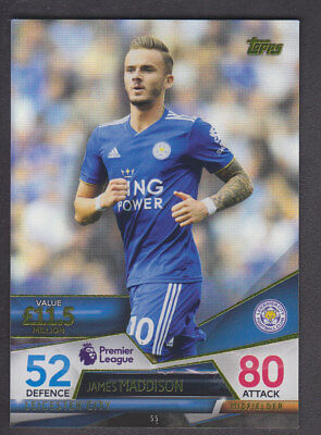 Match Attax - Ultimate 2018/19 - Base # 55 James Maddison - Leicester
