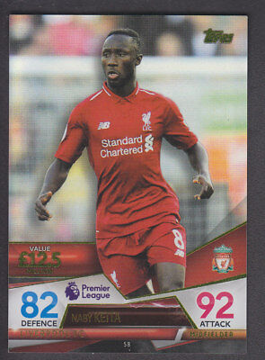 Match Attax - Ultimate 2018/19 - Base # 58 Naby Keita - Liverpool