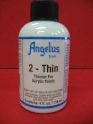 Angelus 2-thin Paint thinner for acrylic paints 4oz  BRAND NEW
