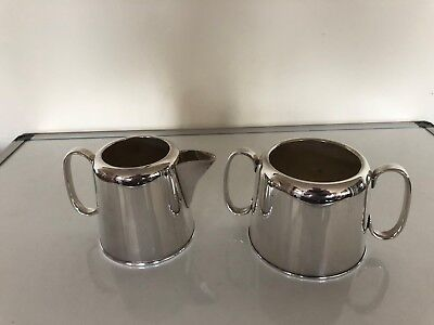 Silver Plated Hotel Ware Milk Jug And Sugar Bowl (Spm&s 211) Hamilton Laidlaw