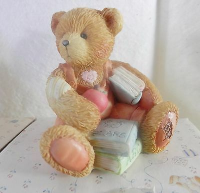 "Enesco Cherished Teddies, Seth,"" School Days"", 914835, Sept 1993"