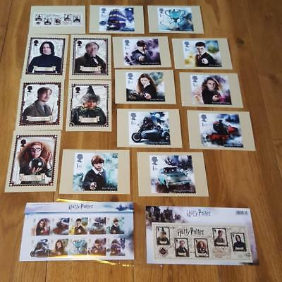 Harry Potter UK Royal Mail 2018 Mint Stamps Mini Sheet Presentation Post Card