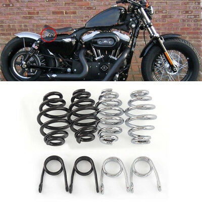 Chrome Barrel Solo Seat Springs for Harley Motorcycle Bobber Chopper Customs New