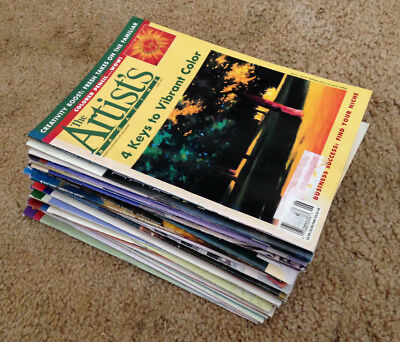 Big Lot of 23 The ARTIST'S Magazine (1996-1998) & 3 American Artist Mags (2000)