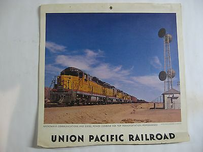 - UNION PACIFIC LARGE DOUBLE SIDED RAILROAD CALENDAR Mid 1960's