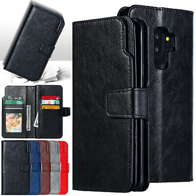 For Samsung Galaxy Note 9 S9 S8 J4 J6 2018 Leather Flip Wallet Phone Case Cover