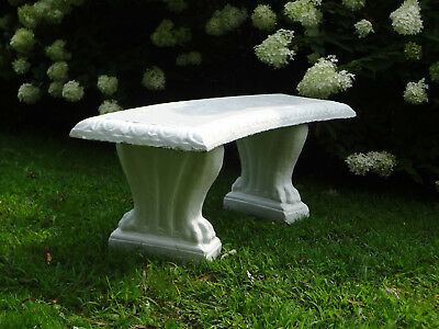 #1 Antique Estate Garden Concrete Stone Statue Lawn Lion Foot Bench Seat Chair