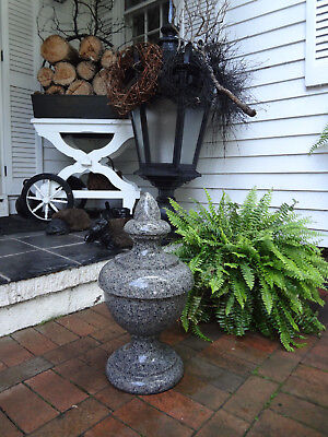 Vtg Antique Estate Garden Granite Stone Urn Finial Statuary Statue Lawn Ornament