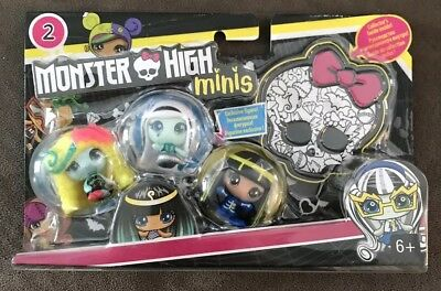 HTF Monster High Minis 3-pack #9 Series Season 2 Glow Cleo Electrified Lagoona