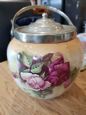 Vintage 1930's China Biscuit Barrel