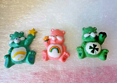 3 Care Bear magnets Wish ,Cheer and Good Luck Bears