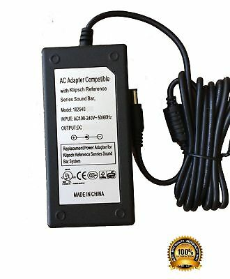 AC Adapter Power Supply for Klipsch Reference RSB-8 Soundbar Sound Bar RSB8