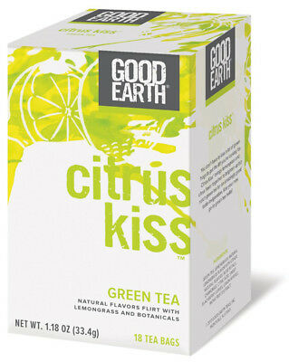 GOOD EARTH - Citrus Kiss Green Tea - 18 Tea Bags