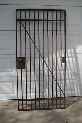 "Vintage Antique Jail Cell Bank Vault Door 36""W x 74""H Some rust~No Key Police"