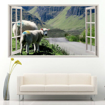 Wall Stickers Sheep Baby Scenic Mountains  Vinyl Bedroom Girls Boys Kids D188