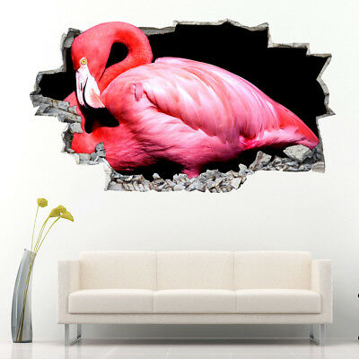 Wall Stickers Pink Flamingo Bird Bedroom  Bedroom Girls Boys Room Kids F669