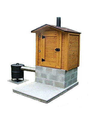 Smokehouse Plans 8' x 6' Smoker Smoke House Building Plan Build Your Own DIY