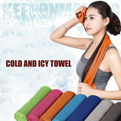 Two-tone Ice Towel Sports Travel Camping Cold Towels with Cool Cooling Effect 2C