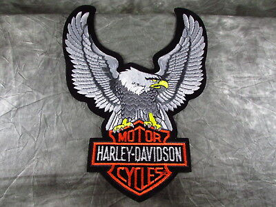 """Vintage Harley Davidson Eagle Wings Bar & Shield Patch Authentic 8"""" X 10 1/2"""""""
