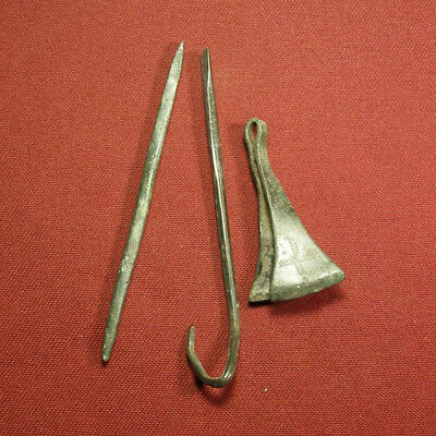 Lot of 3 roman medical tools