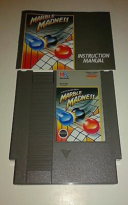 Marble Madness (Nintendo, 1989) w/ Manual