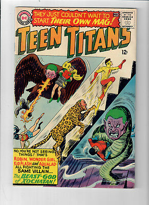 THE TEEN TITANS #1 (1966) - Grade 6.0 - Nick Cardy art & cover!