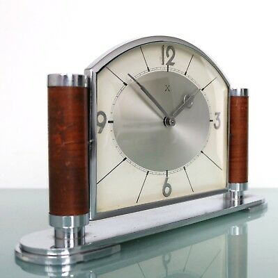 JUNGHANS PFEILKREUZ Mantel CLOCK 8 Day MUSEUM PIECE BAUHAUS Antique 1920s German