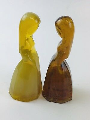 2 Mosser Glass ~ Vi Hunter ~ Jenny Dolls ~ Desert Agate & Golden Opaline