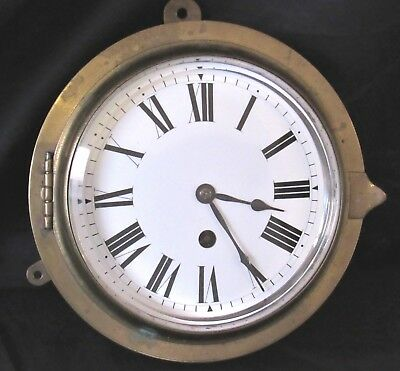 Fine Quality Fusee Ships Clock With Enamel Dial
