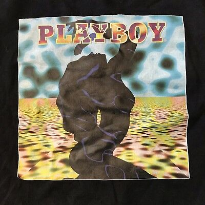 Rare 90s Vintage Playboy Psychedelic T Shirt Size XXL Made In USA CA Sunshine