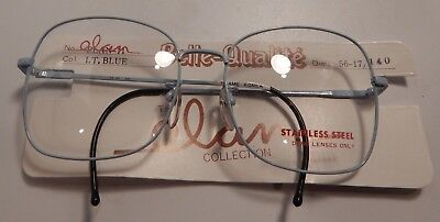 74e6581a623 Vintage Elan 11 Lt. Blue 56 17 Ladies Metal Eyeglass Frame New Old