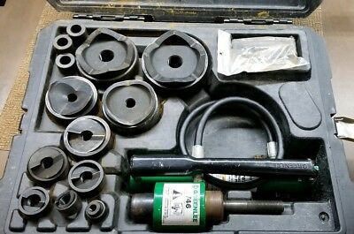 "Greenlee 7310SB ½""-4"" Hydraulic Slugbuster W/Case, 767 Pump,& 746 Ram ""Used"""
