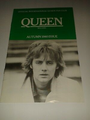 Queen Fan Club Magazine -  Autumn 1980  Issue / Very rare !!  Roger Taylor