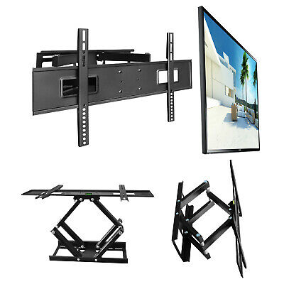 WH01 Tv Wall Mount Double Arm Supported Swivels Tilts 32-65 Inch Tv Set
