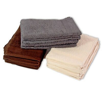 Terry Cloth Pack of 6 Towels 30 x 50cm Guest Towels 100% Cotton 500 GM ²