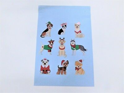10 10x13 Festive Pups Designer Mailers Poly Shipping Envelopes Boutique Bags