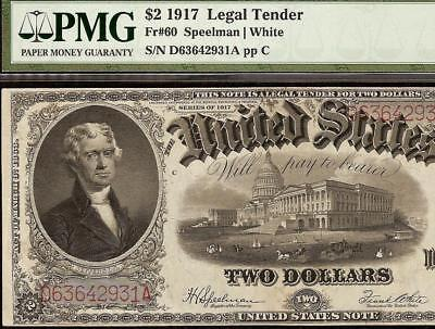 Large 1917 $2 Two Dollar United States Legal Tender Note Big Paper Money Pmg 30