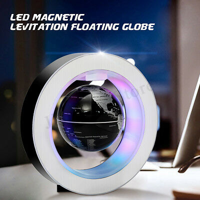 LED Magnetic Levitation Floating Earth Globe Map Gift Education Toy Gift