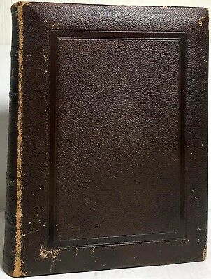 1890 Holy Bible Old New Testament Luxury Illustrated Dore Leather Very Good Text