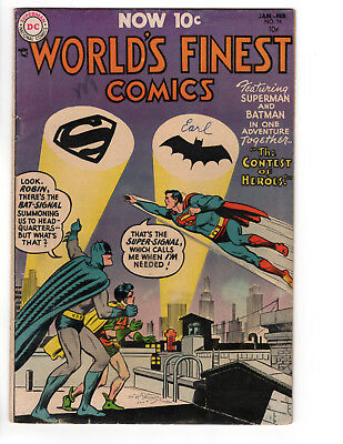 """World's Finest #74 - """"the Contest Of Heroes"""" - Super Signal - 4.0"""