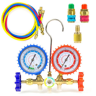 HVAC A/C AC Refrigeration Kit R12/22 R134a R502 Manifold Gauge Set Refrigeration