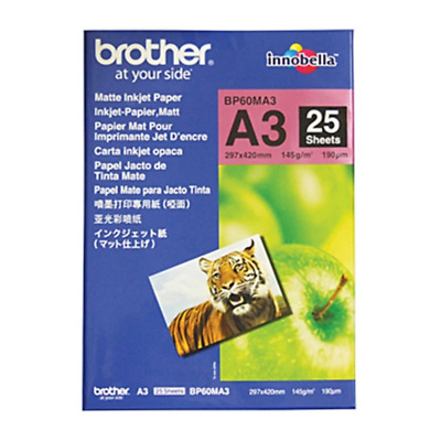 Brother Matte Paper BP60MA3 25 Sheets