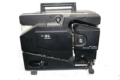 ELMO 16-CL Optical 16mm Film Projector 50mm lens TESTED WORKS!! needs a new bulb