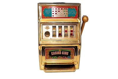 Vintage large Casino King Machine Made in Japan Corroded Battery Compartment