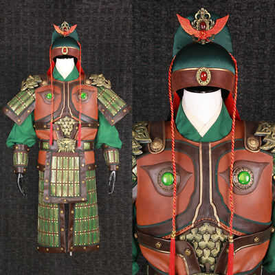 The Three Kindoms Guanyu guangong leather lion helmet and armor clothes