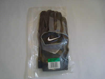 NEW NIKE PGF103 Speedtack IV College Football Gloves Black Grey Size ... bd8178083