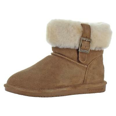 Bearpaw Abby Women's Suede Foldover Sheepskin Lined Mid-Calf Boots