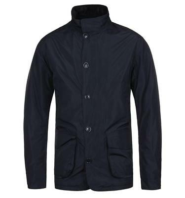 BARBOUR Waterproof Breathable Quilted Tailored Lightweight Temp Jacket Navy Blue