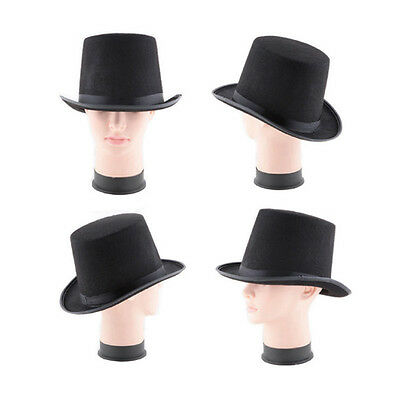 New Children Adult Magician Costume Tall Top Black Hat Steampunk Performing  Hat 2cdf850f147f