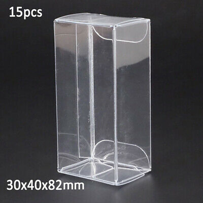 5/10/15/25pcs 1/64 Model Car Plastic Display Box Clear 30*40*82mm